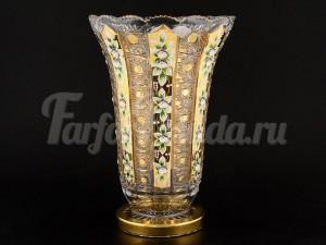 """Ваза для цветов """"Хрусталь золото"""" 35,5 см"""