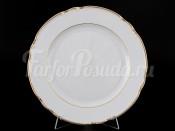 """Набор тарелок """"Отводка золото"""" Констанция 24 см 6 шт"""