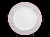 "Набор тарелок ""Серый мрамор розовый кант"" Яна 25 см 6 шт"