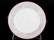 "Набор тарелок ""Серый мрамор розовый кант"" Яна 17 см 6 шт"