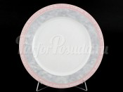 "Набор тарелок ""Серый мрамор розовый кант"" Яна 21 см 6 шт"