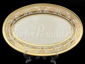 """Блюдо овальное 24 см """"Cream porcelain Imperial Gold"""" Falkenporzellan"""