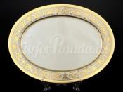 """Блюдо овальное 35 см  """"Cream porcelain Imperial Gold"""" Falkenporzellan"""