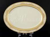 """Блюдо овальное 35 см """"Cream Pure Elegance Gold 9320"""" Falkenporzellan"""