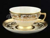 """Набор чайных пар 155  """"Cream porcelain Imperial Gold"""" Falkenporzellan"""