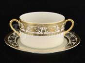 "Набор бульеных пар  ""Cream porcelain Imperial Gold"" Falkenporzellan"