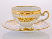 """Набор для чая """"Кленовый лист белый 408"""" 160 мл подарочная упаковка"""