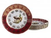 "Набор тарелок ""Красная охота"" MG870 25 см 6 шт"