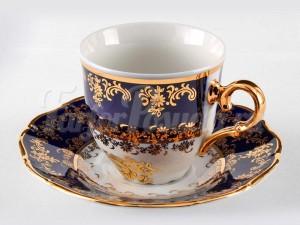 "Набор для чая ""Роза золотая ОФ677/Г""(чашка+блюдце)140мл. на 6перс.12пред."