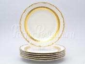 "Набор тарелок ""Лента золотая 857"" 19см. 6шт."