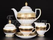 Сервиз чайный на 6 персон 15 пр. Diadem Black Creme Gold