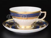 Набор чайных пар 6/6  Diadem Blue Creme Gold