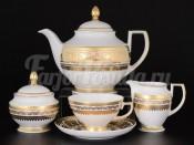 Сервиз чайный на 6 персон 15 пр. Diadem Creme Gold
