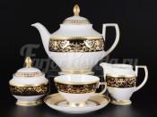 Сервиз чайный на 6 персон 15 пр. Hormony Creme Black