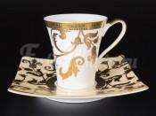 Набор чайных пар 6/6 Tosca Creme Gold