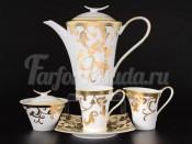 """Сервиз чайный на 6 персон 15 пр. """"Tosca кремовый с золотом"""""""