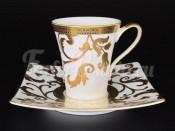 Набор чайных пар 6/6 Tosca White Gold