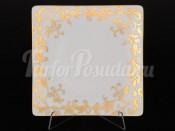 Набор тарелок 21 см 6/1 Tosca White Gold