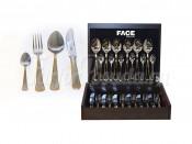"""Набор столовых приборов 24 предмета на 6 персон """"Falperra Gold"""" в деревянной коробке"""