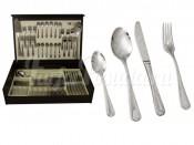 """Набор столовых приборов 75 предметов на 12 персон """"Santorini"""" в деревянной коробке"""