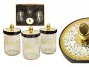 """Набор из 3-х банок для сыпучих продуктов """"Dubai Gold/Silver"""""""