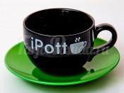 "Набор для чая ""Вехтерсбах-iPott black"" (чашка+блюдце)"