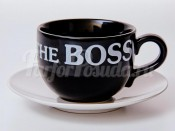 "Набор для чая 500 мл.""Вехтерсбах-The Boss black"" (чашка+блюдце)"
