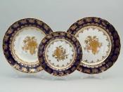 """Набор тарелок для сервироавки стола """"Роза золотая ОФ677/G"""" 18шт."""