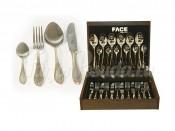 """Набор столовых приборов 24 предмета на 6 персон """"Geneva"""" в деревянной коробке"""