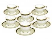 Набор: 6 чашек + 6 блюдец для кофе Виндзор