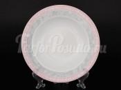 "Набор глубоких тарелок ""Серый мрамор с розовым кантом Яна"" 23 см"