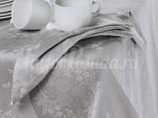 PRETTY NAPKIN Gray/Gri/Жемчужно-серый, Набор салфеток 45х45 (6 шт), 40% полиэстер 40% хлопок 20% лён
