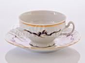 "Набор для чая 155 на 6 перс.12 пред. ""Синие вензеля"" чашка 205 мл и блюдце 15,5 см"