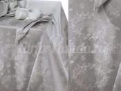 PRETTY Gray/Gri/Жемчужно-серый, Скатерть 160х260, 40% полиэстер 40% хлопок 20% лён