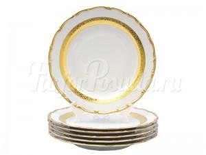 "Набор тарелок 25 см 6/1 ""Золотая лента 857"""