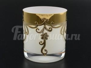 """Набор стаканов 280 мл 6 шт """"Белый золотой цветок"""""""
