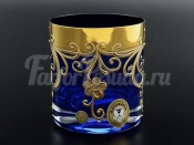 """Набор стаканов 280 мл 6 шт. """"Синий золотой цветок"""""""