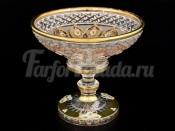 """Конфетница 15,5 см  S.Crystal """"Хрусталь с золотом"""""""