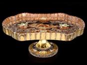 """Блюдо на ножке 27,5 см """"Хрусталь с золотом"""""""