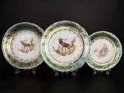 """Набор тарелок 18 предметов """"Зеленая охота ФР"""""""