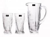 "Набор для воды ""Кристалайт 21009 "" кувшин 1,1 л и 2 стакана 350 мл"
