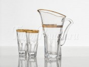 "Набор для воды ""Аполло Голд"" кувшин 1,7 л и 6 стаканов 480 мл"
