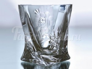 "Набор стаканов 340 мл 6 шт ""Квадро Африканская Роза 21009"""