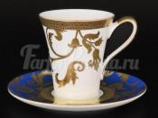 Набор чайных пар 155мл  6/6 Tosca Blueshade Gold