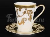 Набор кофейных пар 6пер 12пр Tosca Creme Gold