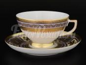 Набор чайных пар 6/6 Diadem Violet Creme Gold