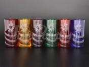 "Набор стаканов для воды 380 мл ""Цветные"" R-G"