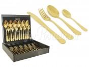 """Набор столовых приборов 24 предмета на 6 персон """"Antique Titanium Gold"""" в деревянной коробке"""