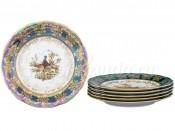 """Набор тарелок 18 см из 6 штук """"Царская Зеленая Охота"""" AL"""