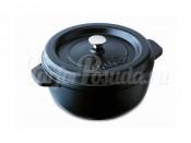 Кастрюля круглая из чугуна Fissler, серия Arcana, черная 19 см, 2 л